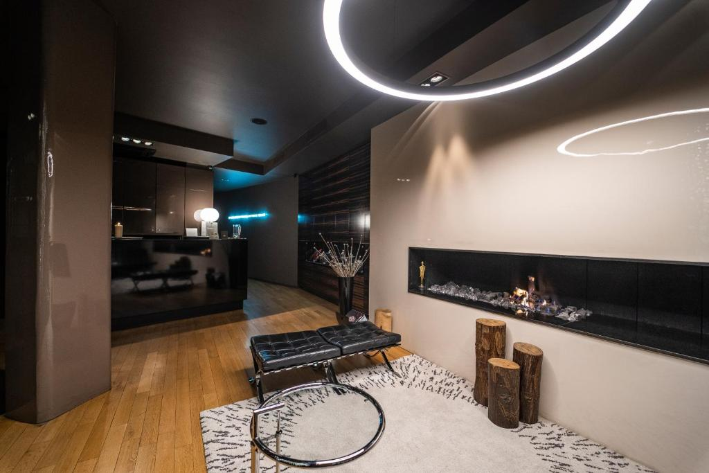 A television and/or entertainment center at mOdus Hotel
