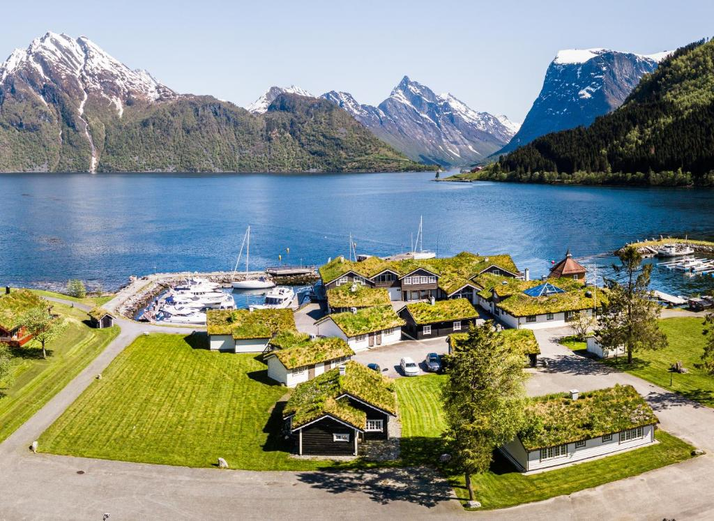 A bird's-eye view of Sagafjord Hotel – by Classic Norway Hotels