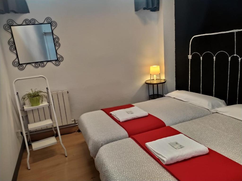 Cama o camas de una habitación en Bilbao Akelarre Hostel