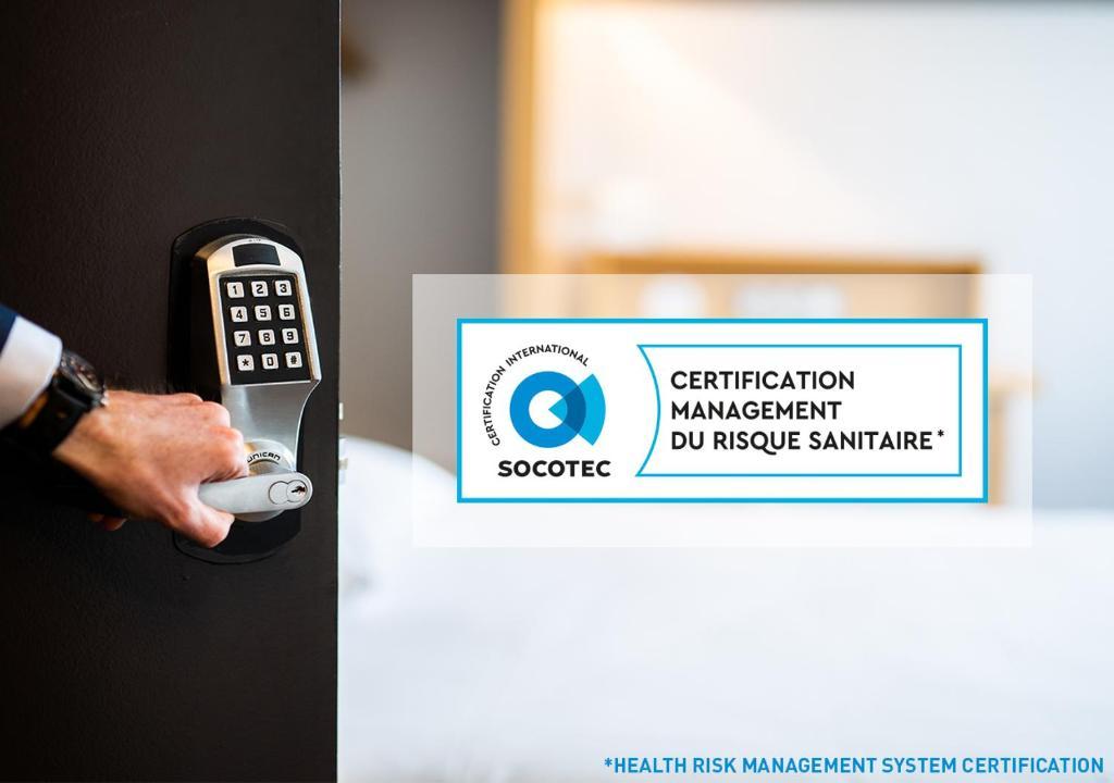 Certificat, récompense, panneau ou autre document affiché dans l'établissement B&B Maubeuge-Louvroil
