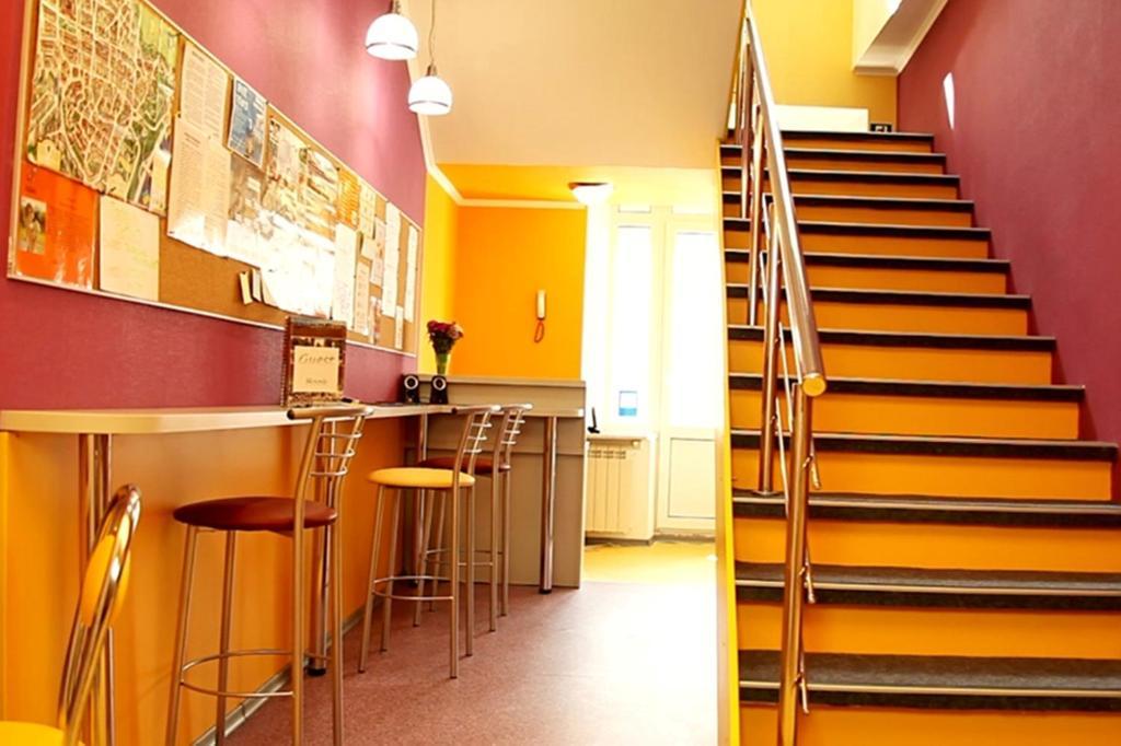 ZigZag Hostel tesisinde mutfak veya mini mutfak