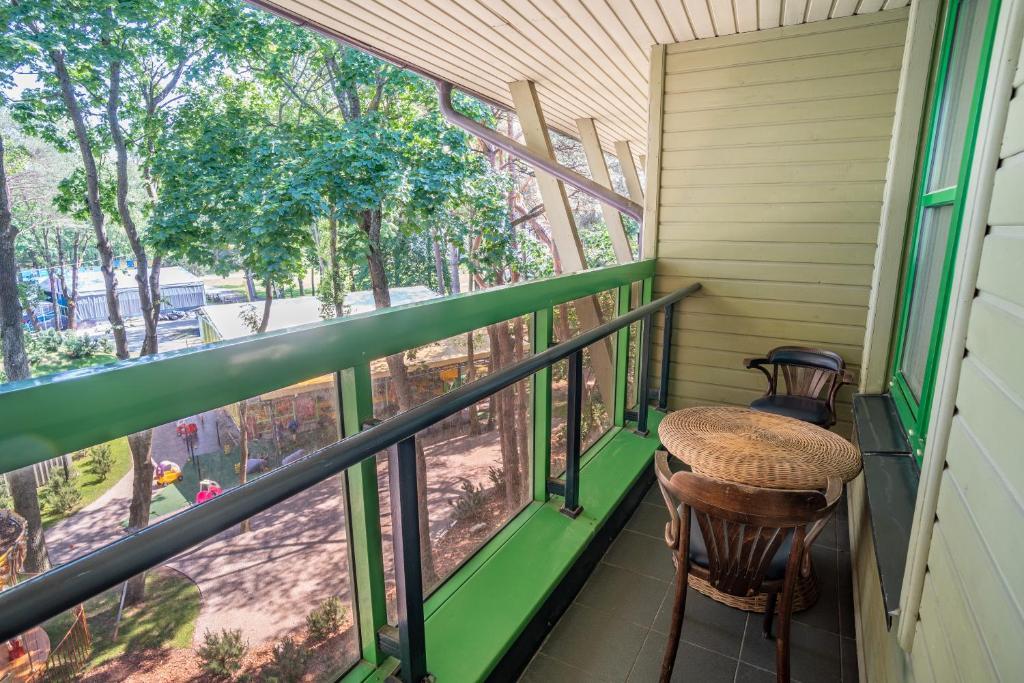 Balkonas arba terasa apgyvendinimo įstaigoje B45apartments
