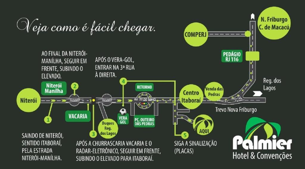 The floor plan of Palmier Hotel & Convenções