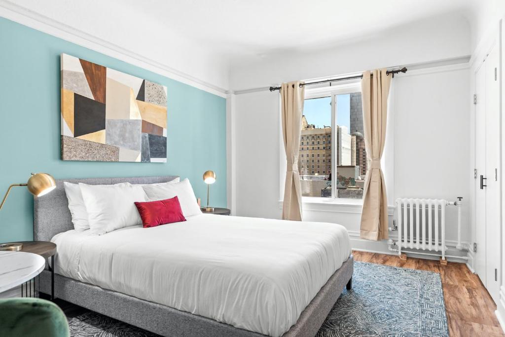 A room at the La Monarca Hotel.