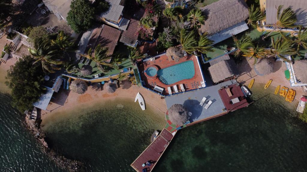 Uma vista aérea de Limestone holiday resort Curacao