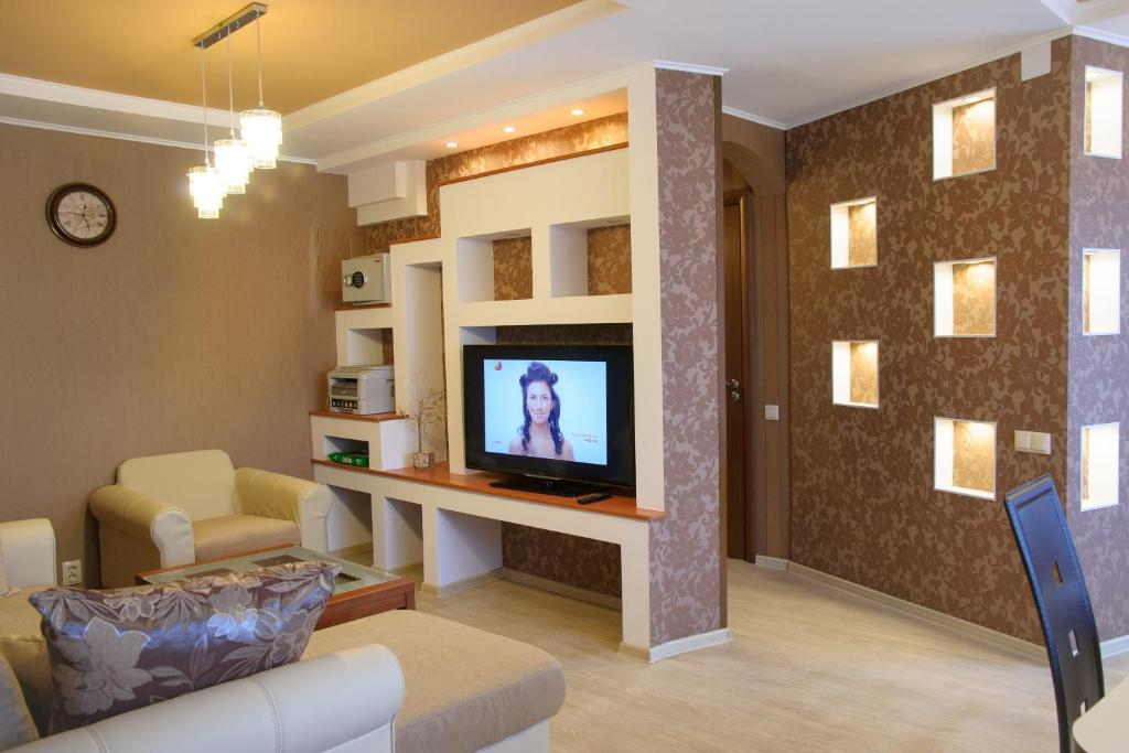 A television and/or entertainment center at RiverSide Apartments