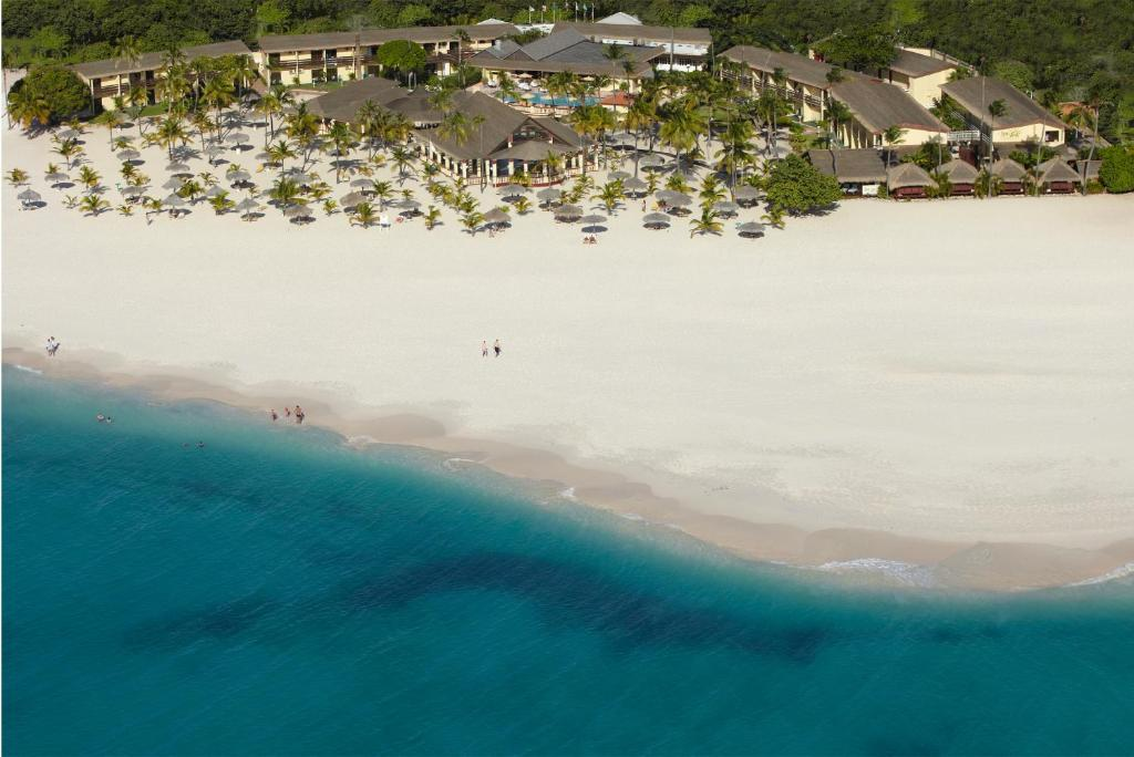A bird's-eye view of Manchebo Beach Resort and Spa