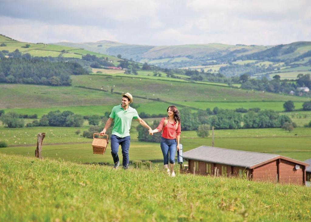 Trewythen Lodges in Caersws, Powys, Wales