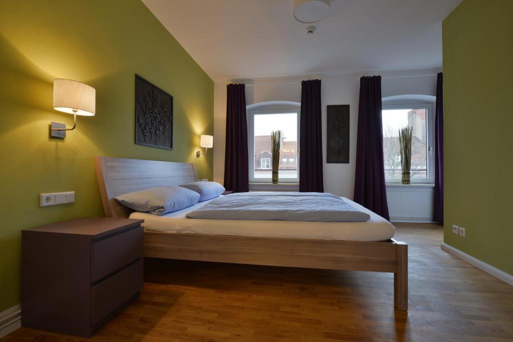 Ein Bett oder Betten in einem Zimmer der Unterkunft Townside Hostel Bremen