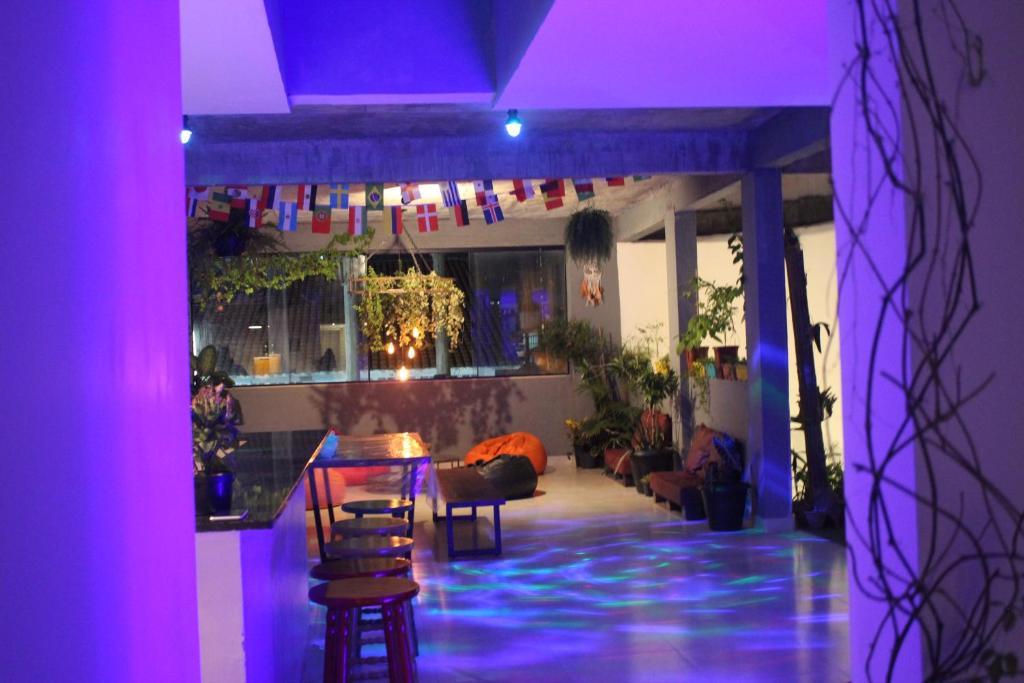 The lounge or bar area at Massambaba Hostel