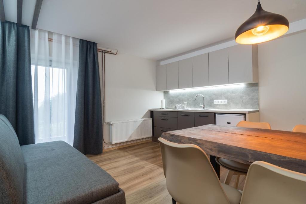 Kuchyňa alebo kuchynka v ubytovaní Penzion Hradisko