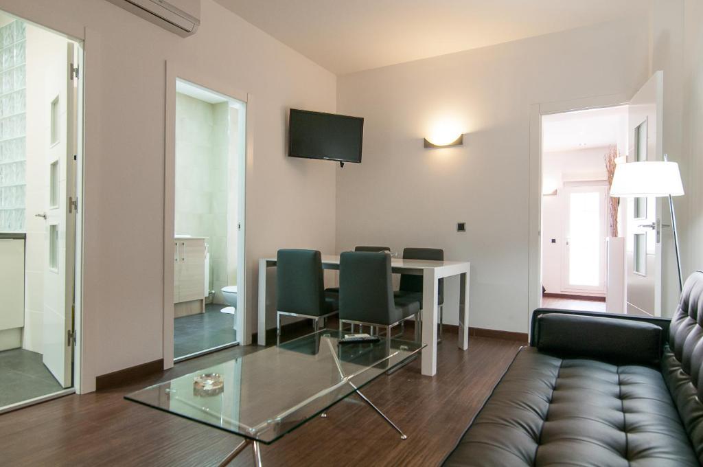 A seating area at Alos Apartments Paseo de Gracia-Diagonal