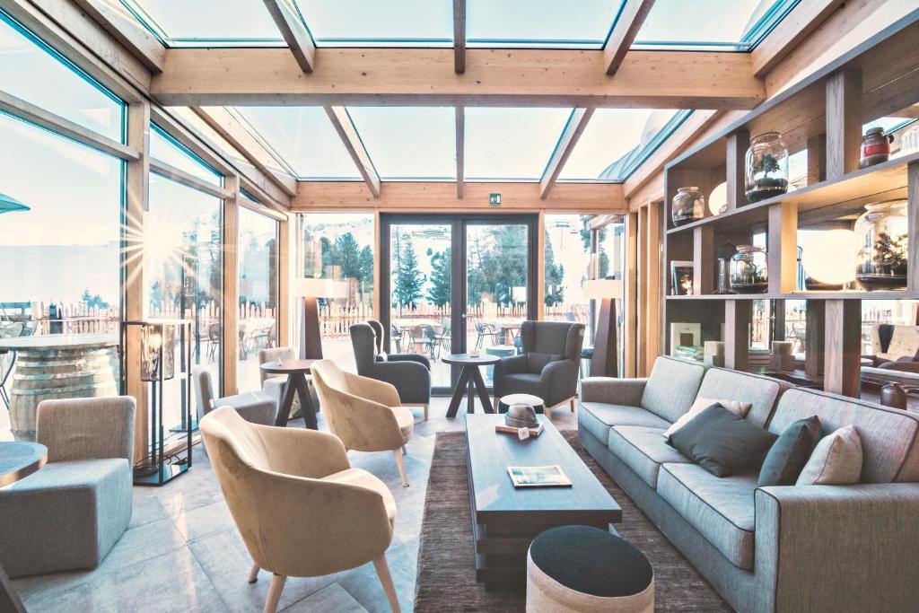 Lounge oder Bar in der Unterkunft Paradiso Pure Living Vegetarian Hotel