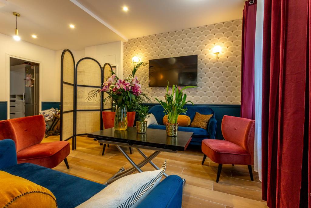 A seating area at Hotel Europe BLV