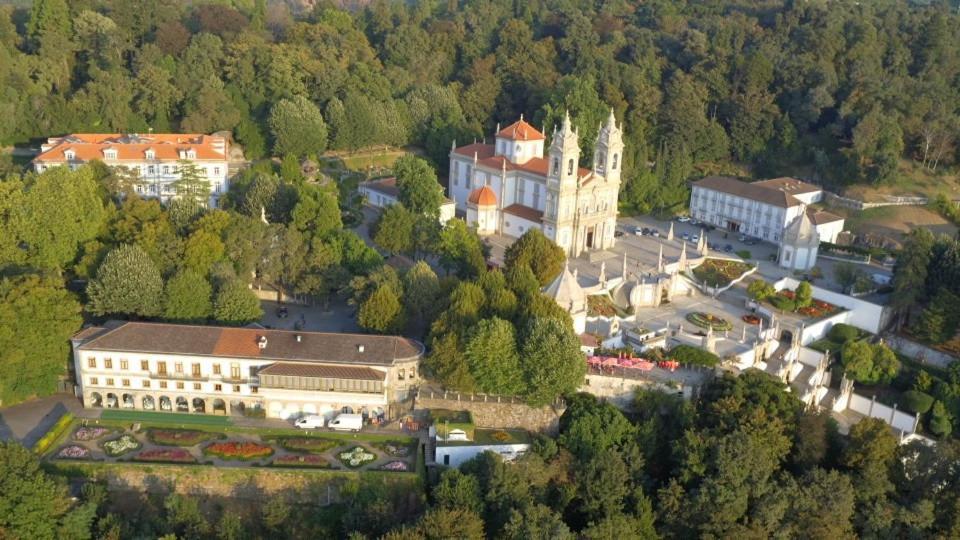 Uma vista aérea de Hotel do Parque