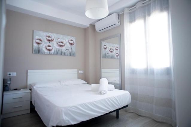 Cama o camas de una habitación en Apartamento Jardines de Cuenca