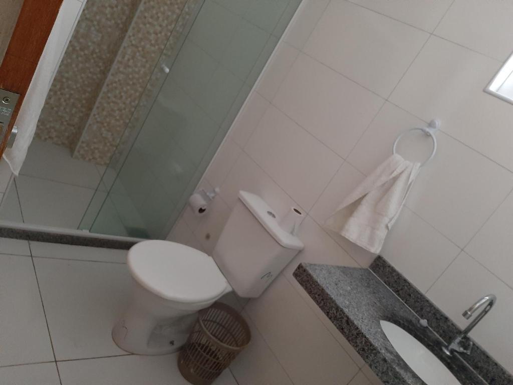 A bathroom at Hotel Santiago