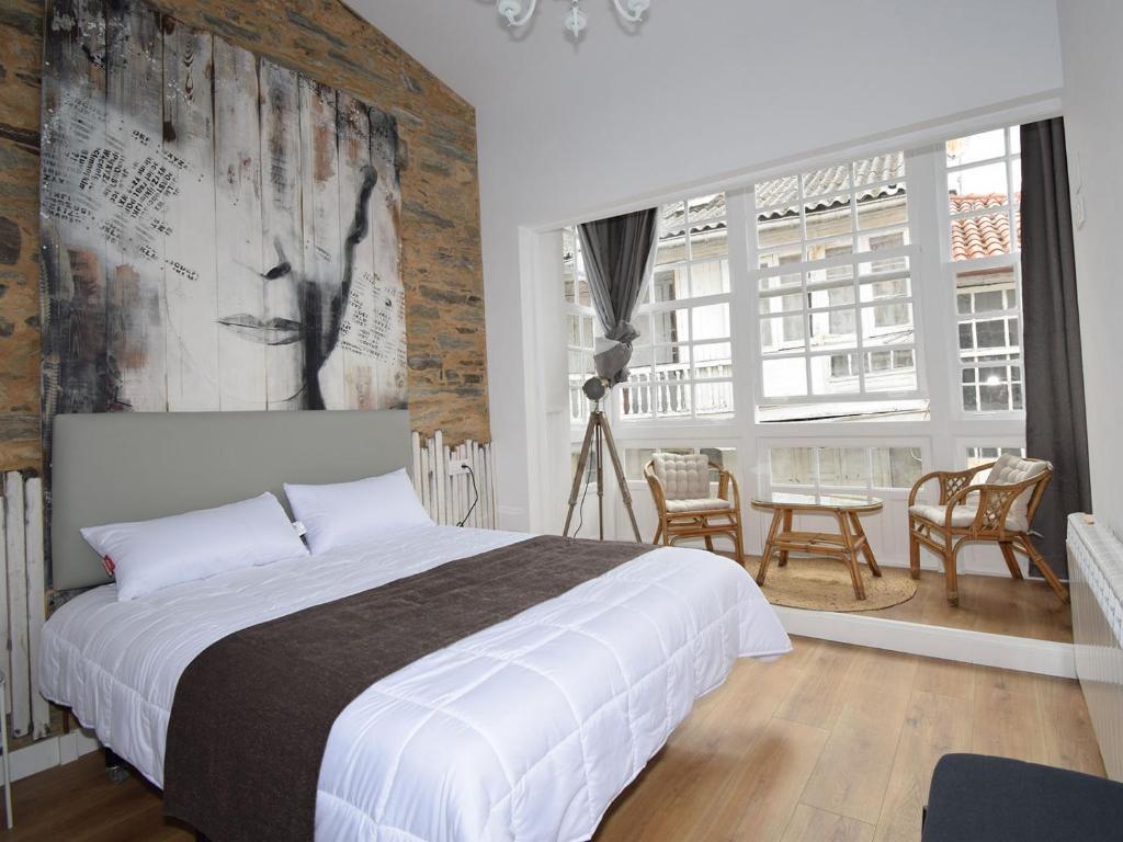 Cama o camas de una habitación en A falúa
