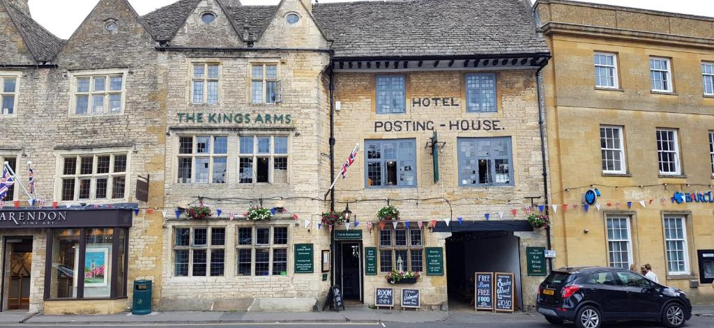 The Kings Arms Hotel in Stow on the Wold, Gloucestershire, England