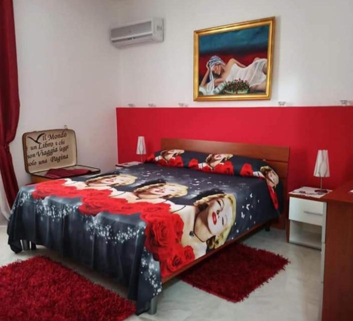 Letto o letti in una camera di B&B Omer