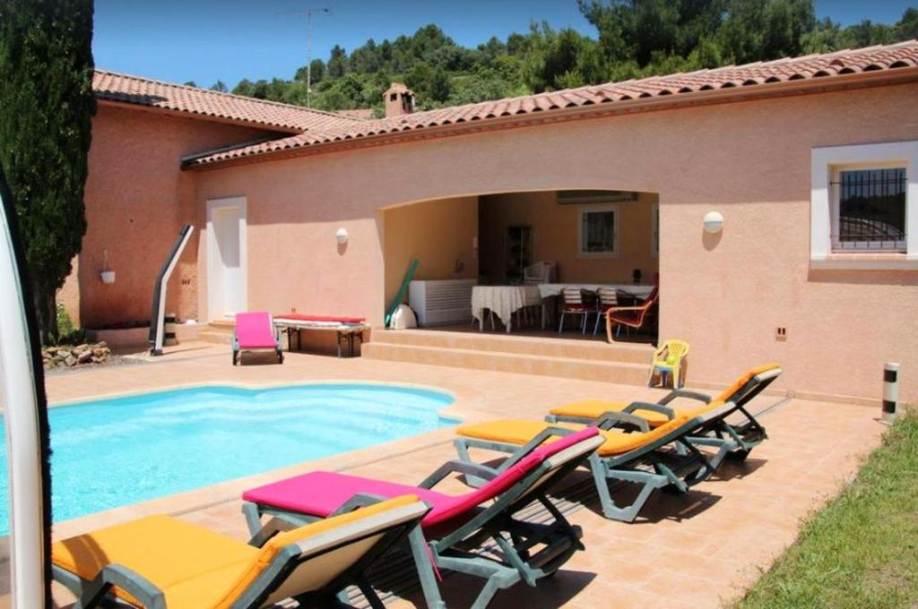 House with 2 bedrooms in Cebazan with shared pool furnished terrace and WiFi