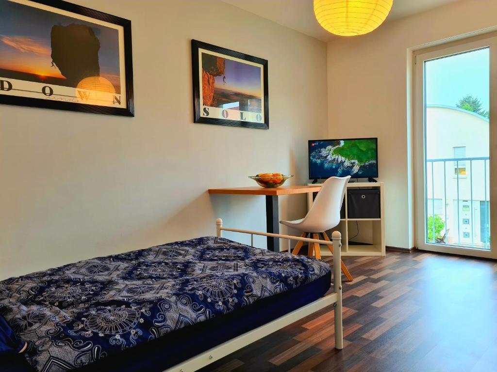 Modernes einfaches Einzelzimmer nahe Frankfurt (Gainsbourg)