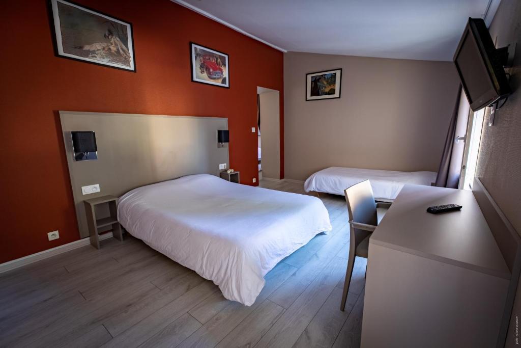 Vue de la chambre de l'hôtel