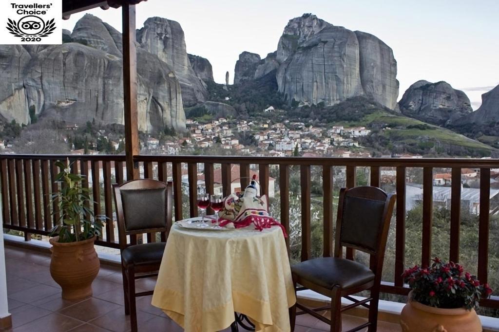 A balcony or terrace at Hotel Doupiani House