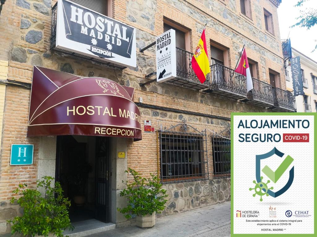 The facade or entrance of Hostal Madrid