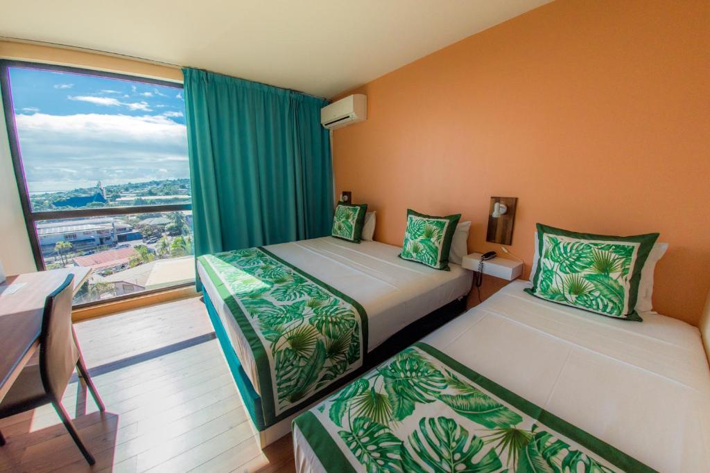 A room at the Tahiti Airport Motel.