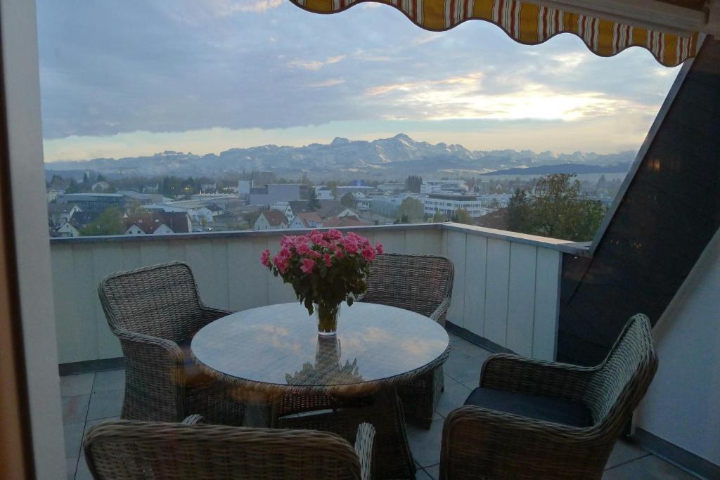 Ein Balkon oder eine Terrasse in der Unterkunft Ferienwohnung Bellaria