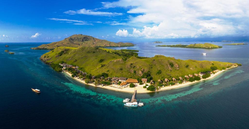 A bird's-eye view of Komodo Resort