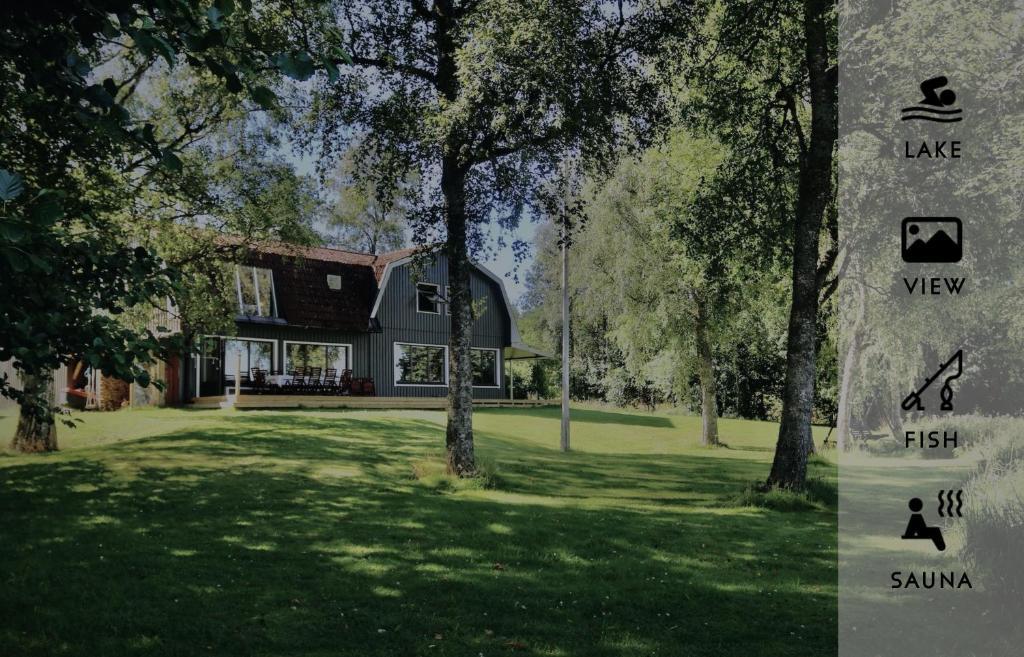 Villa Vegby - Alleinlage mit Steg direkt am See