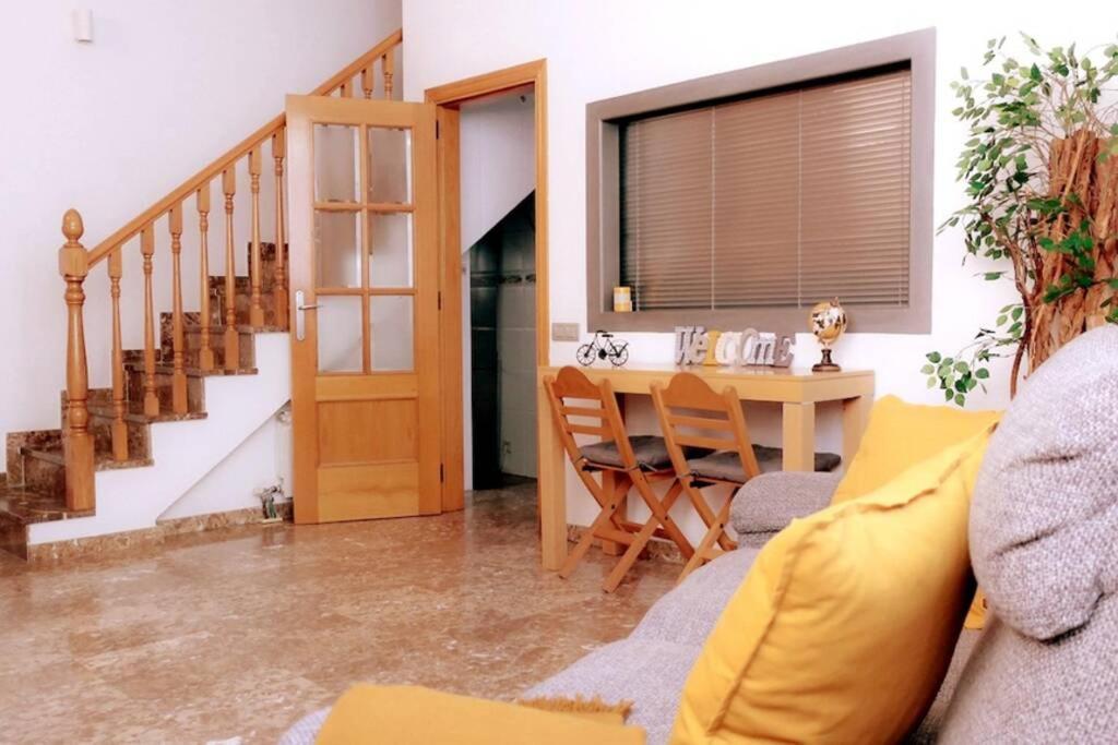 A seating area at Casa Luna, junto playa y Barcelona Centro