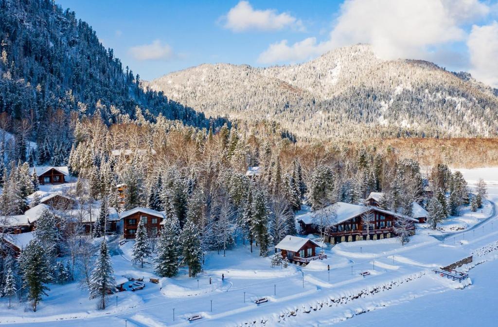 Altay Village Teletskoe during the winter