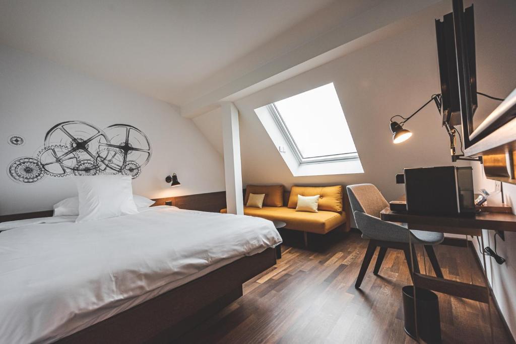 Ein Zimmer in der Unterkunft Hotel Bernina Geneva
