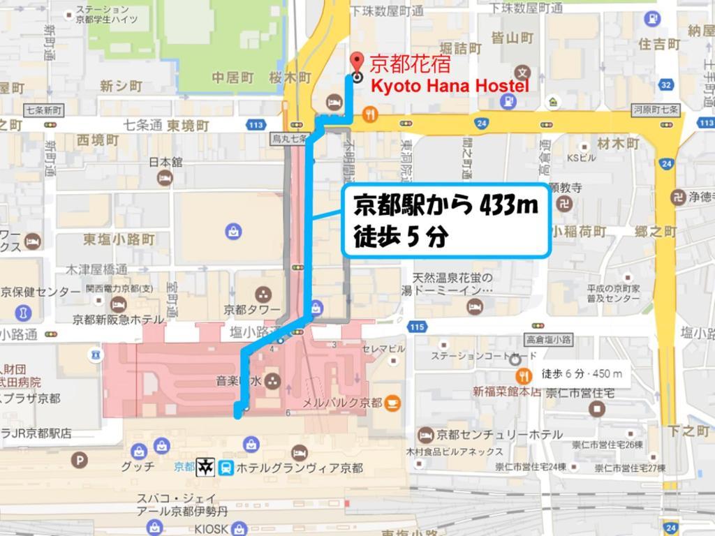 Denah lantai Kyoto Hana Hostel