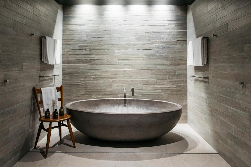 A bathroom at Ovolo Nishi