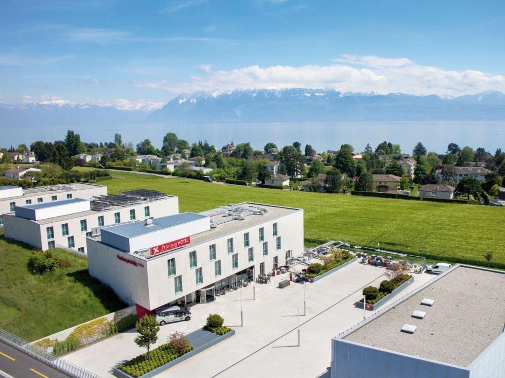 Blick auf Starling Hotel Lausanne aus der Vogelperspektive