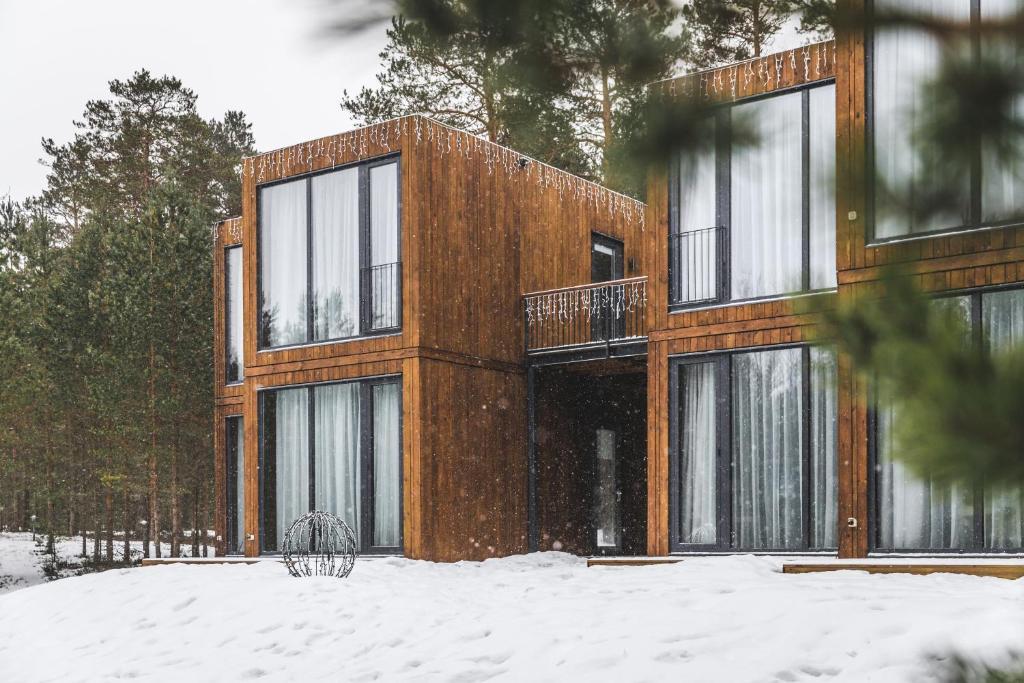 Design hotel Tochka na karte Priozersk talvella