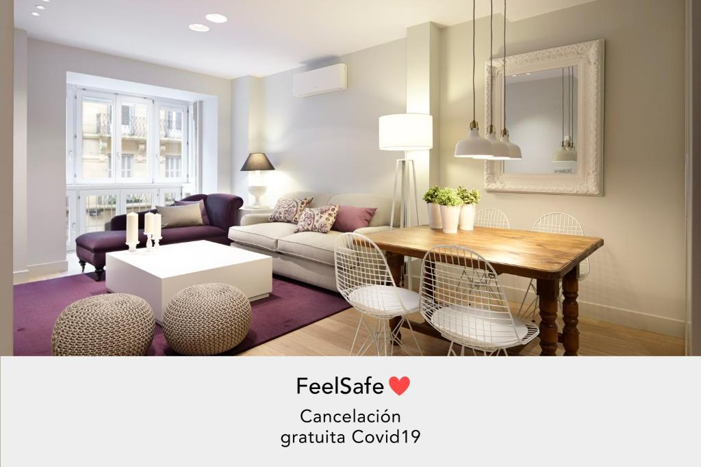 A seating area at Easo Suite 1 by FeelFree Rentals