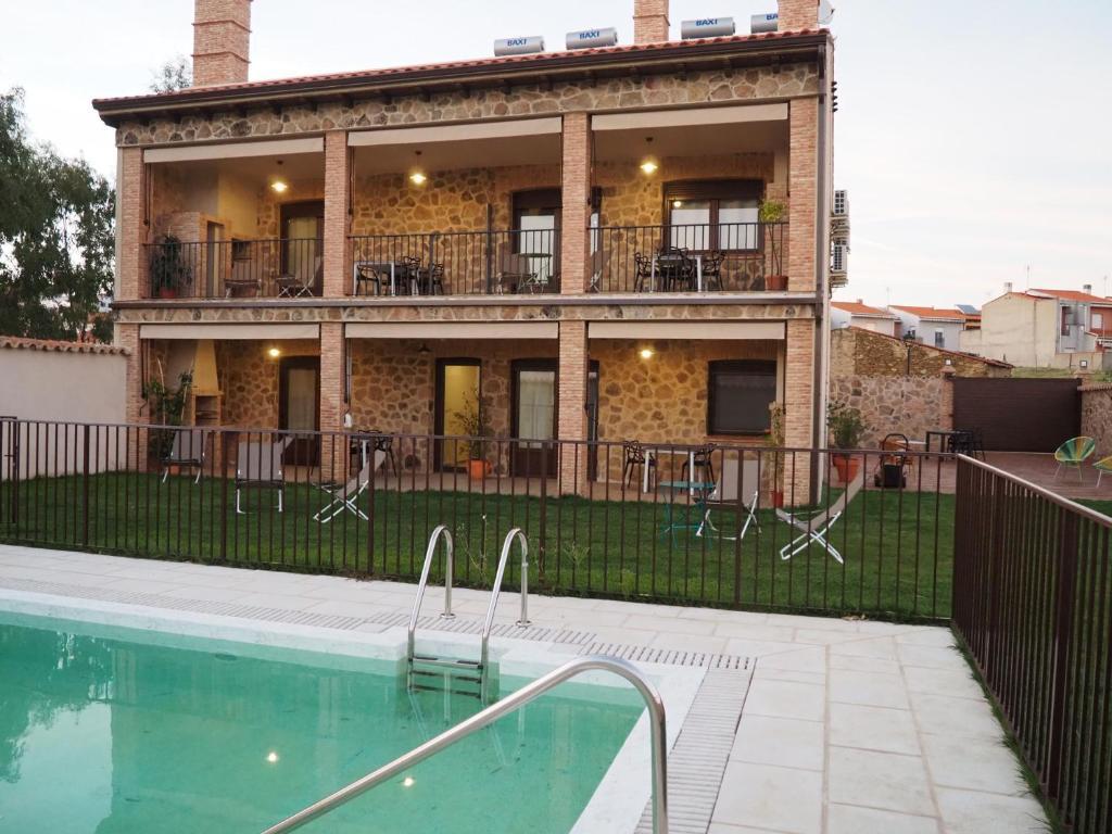 Apartamentos rurales Posada de Monfragüe con jacuzzi