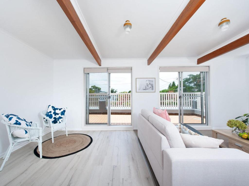 A seating area at The Loft @ Fingal Bay