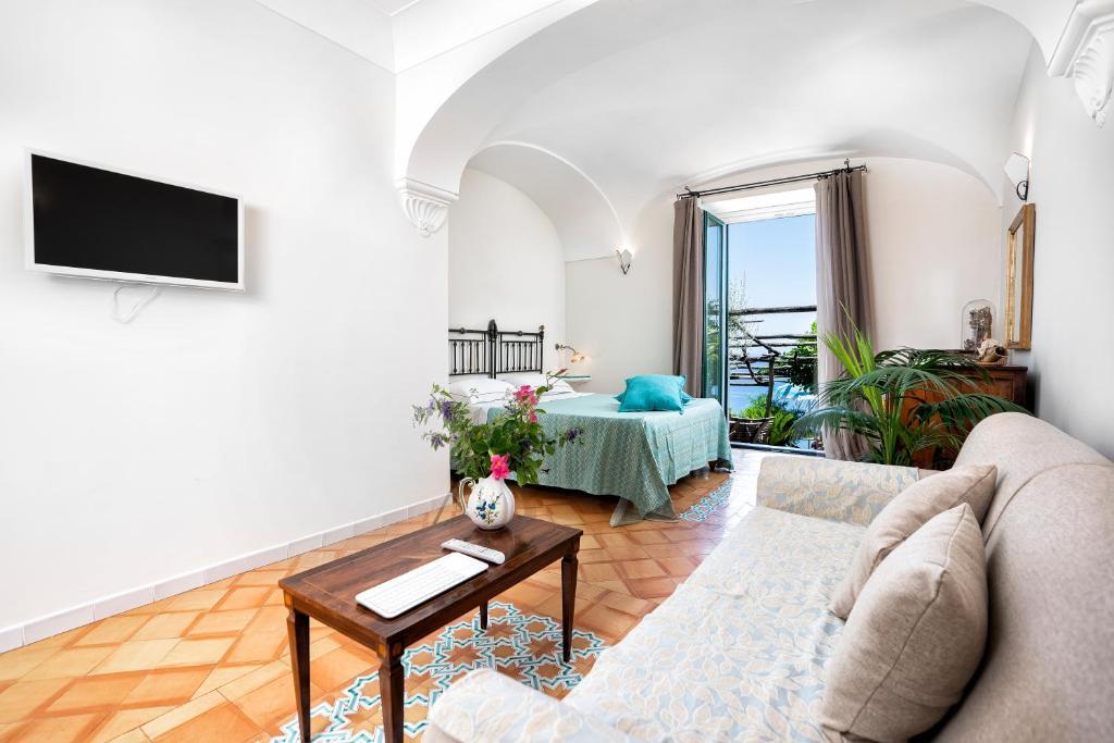 Area soggiorno di B&B Ercole di Amalfi