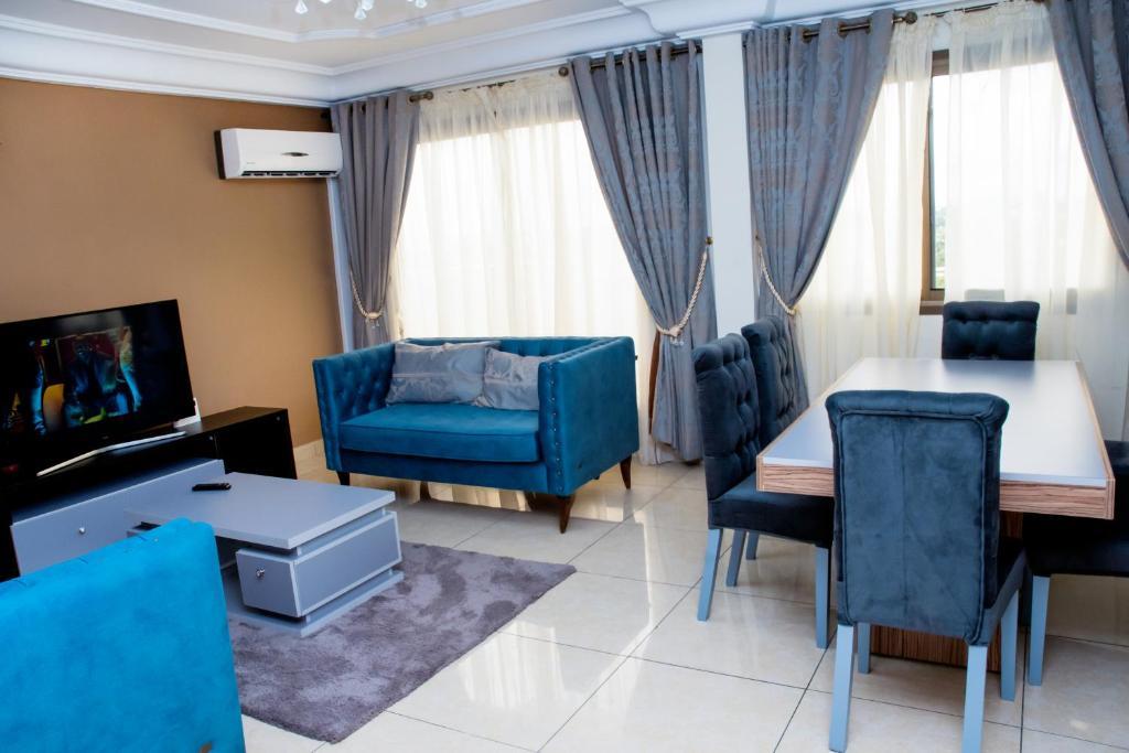 A seating area at Loumia Premium Residency