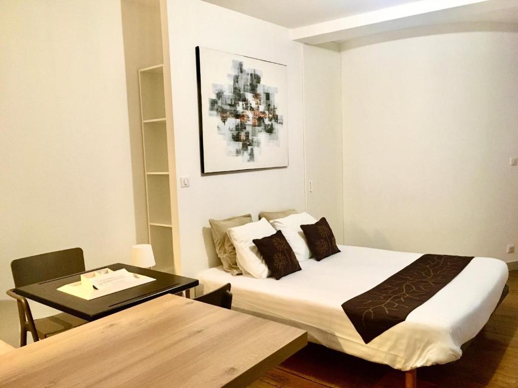 Cama o camas de una habitación en Baionakoa Résidence