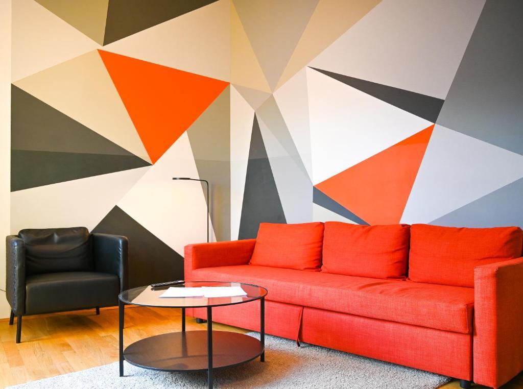 Posezení v ubytování Bright Apartment Naschmarkt