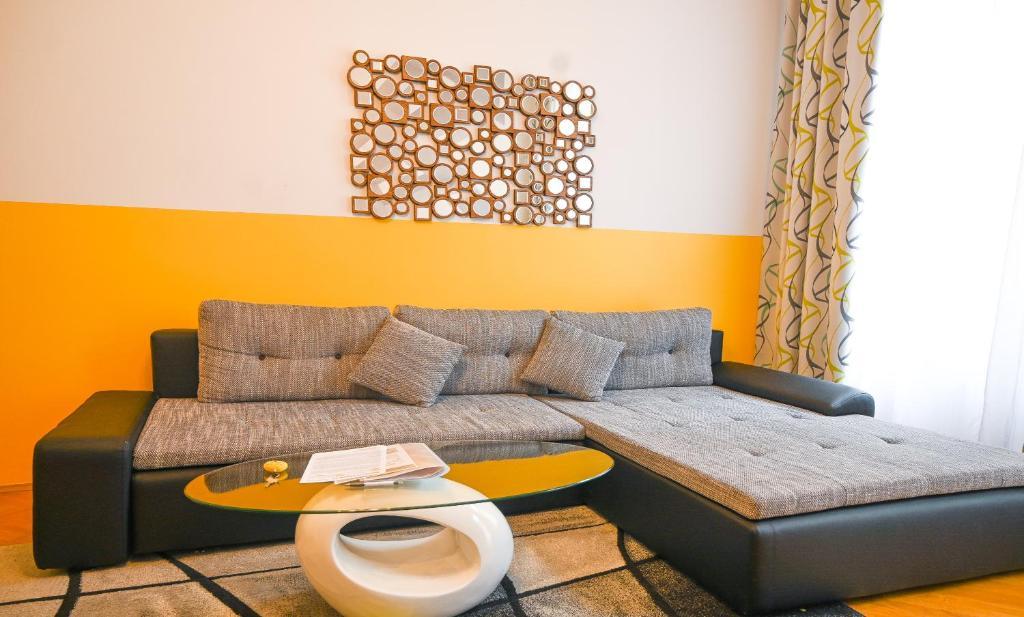 Posezení v ubytování Elegant Suite Augarten