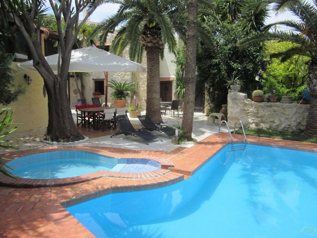 The swimming pool at or near Peaceful Villa in Giannoudi Crete with Swimming Pool