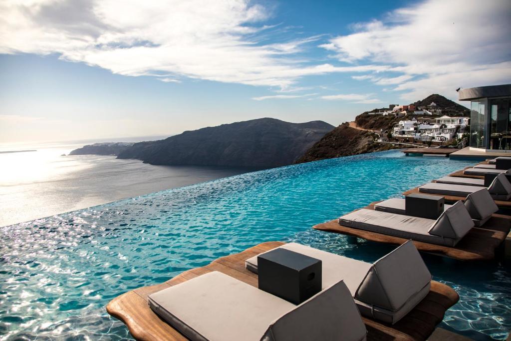 The swimming pool at or near Cavo Tagoo Santorini